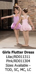 Girls Flutter Sleeve Dress
